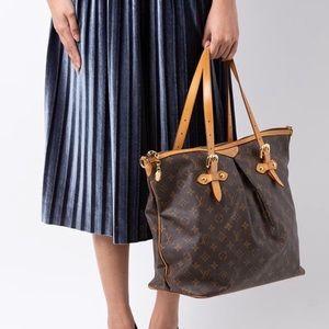 Louis Vuitton brown tan monogram Palermo GM bag
